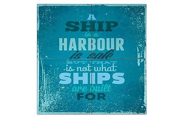 Piastrella proverbi nave ceramica stampato cm amazon