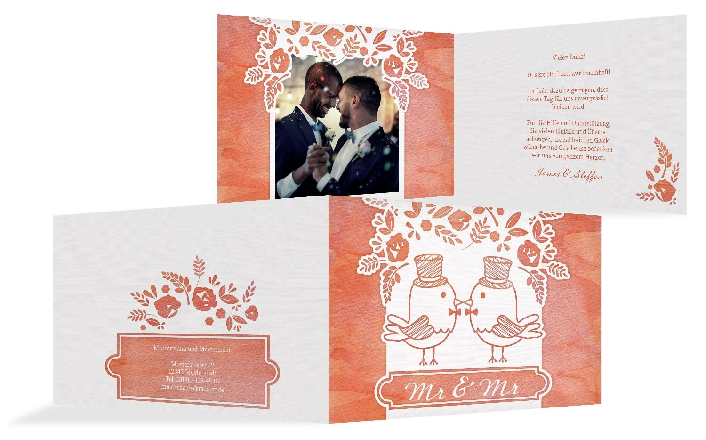 Hochzeit Dankeskarte Vogelpaar- Männer, 30 Karten, MattBlau B07B6R7KQQ | Verschiedene aktuelle Designs  | Angenehmes Aussehen  | Schöne Farbe