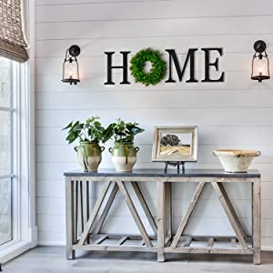 ShapeStack Wooden Letters Home with Wreath