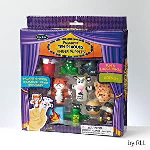 Rite Lite TYPP-Plague Passover Ten Plague Finger Puppets Color Box - Pack of 3