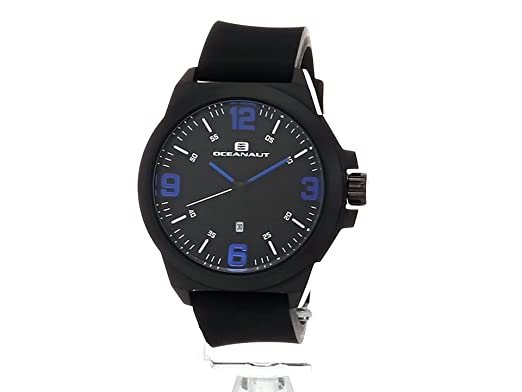Amazon.com: Oceanaut Mens Armada Quartz Stainless Steel and Rubber Casual Watch, Color:Black (Model: OC7111: Watches