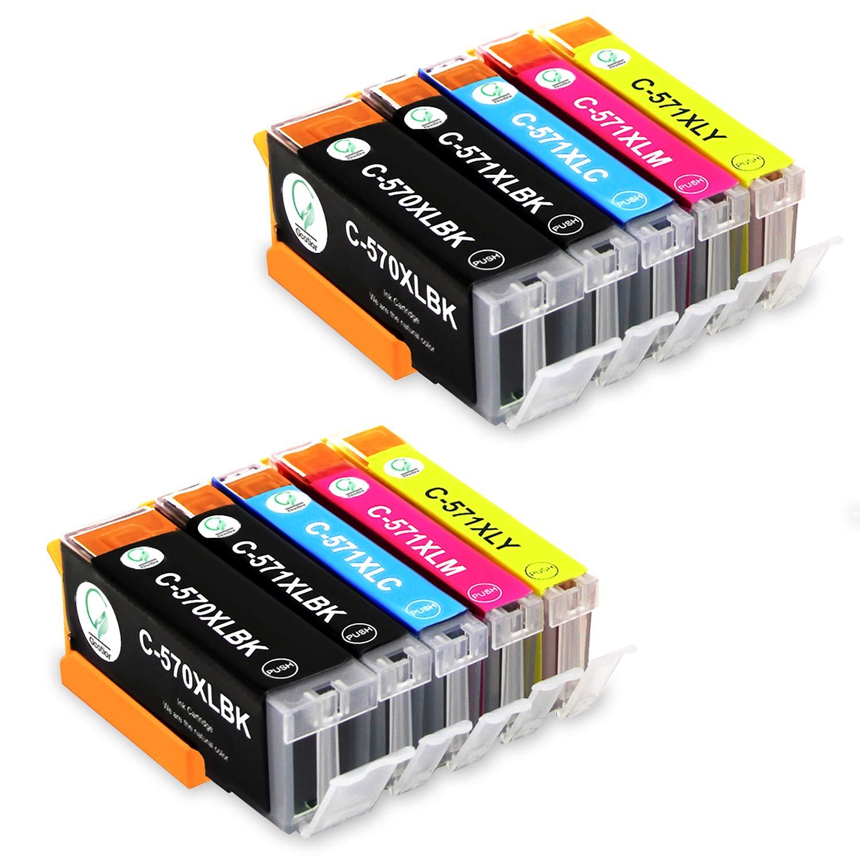 Gootior PGI-570XL CLI-571XL Cartuchos de Tinta Compatible para Canon PIXMA TS5050 TS5051 TS5055 MG5750 MG6850 MG5751 MG5700 MG5753 MG6851 MG6852 ...
