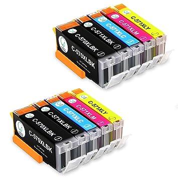 Gootior PGI-570XL CLI-571XL Cartuchos de Tinta Compatible para ...