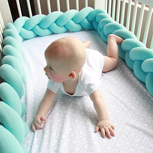 raylans trenzado de bebé para cuna carcasa nudo almohada ...