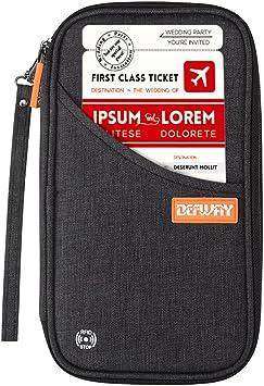 Travel Wallet Family Passport Holder RFID Blocking Card Organiser Document Pouch