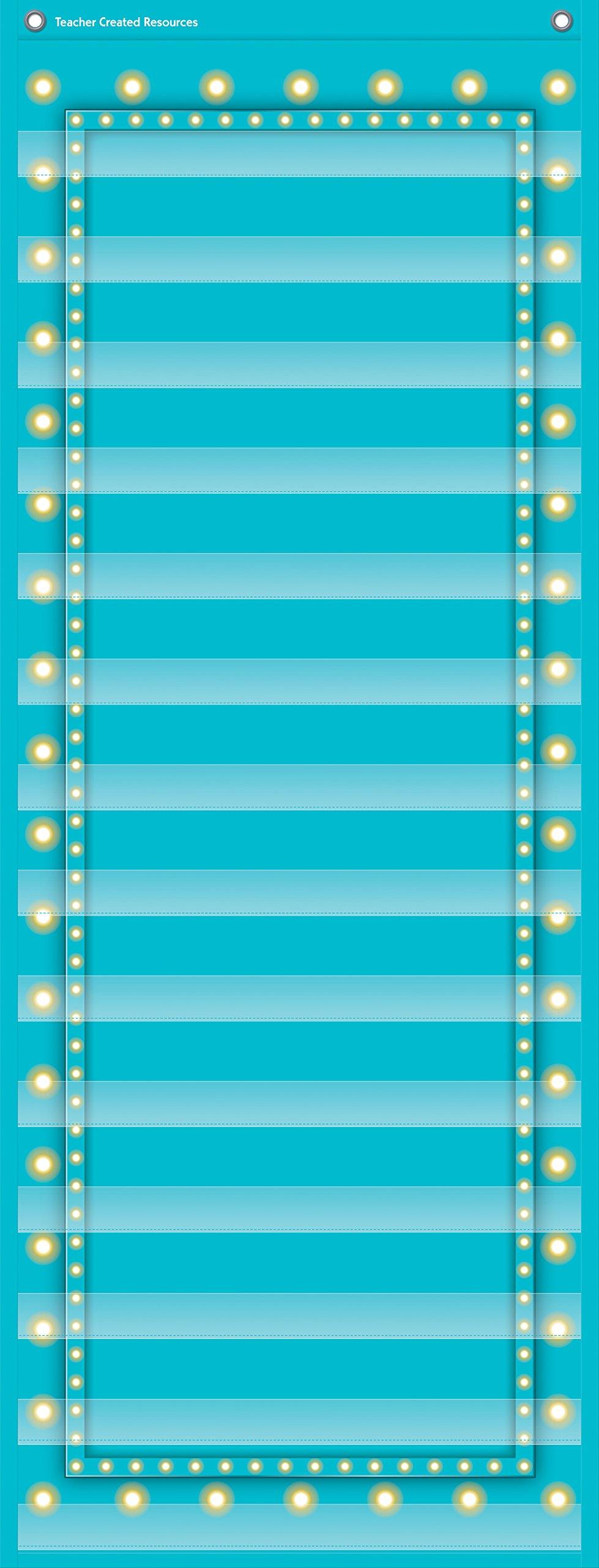 Teacher Created Resources Light Blue Marquee 14 Pocket Chart (13'' x 34'')