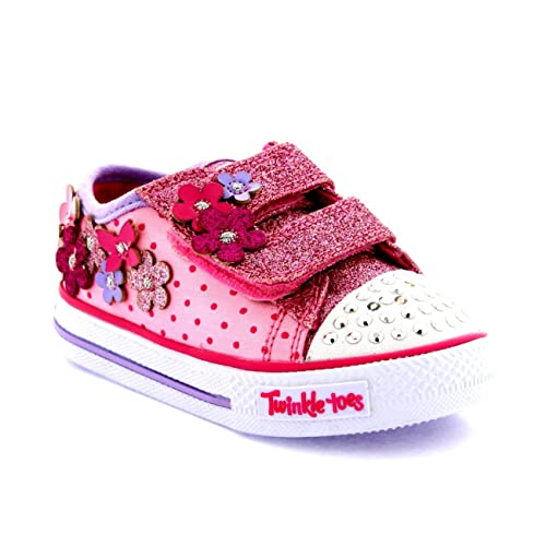 5d879c2c2565 Skechers Infant Girls Pretty Blossoms Twinkle Toes Light Up Trainers -  Pink Hot Pink -