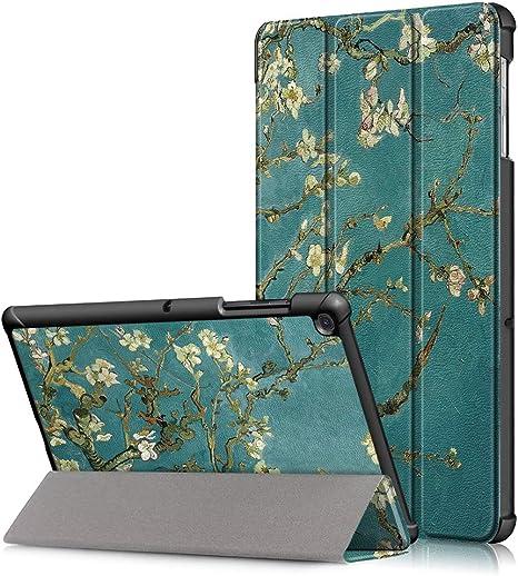 FAN SONG H/ülle f/ür Samsung Galaxy Tab A 10.1 Stand Funktion Smart Cover Tasche f/ür Galaxy Tab A 10,1 2016 Modell SM-T580N//SM-T585N Himmelblau PU Leder Schutzh/ülle mit Auto Schlaf//Wach