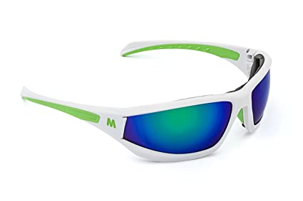 65f11cc3aa3 MORR MARRCONI Z75 Sport Sunglasses with Mirrored Lenses and Protective Foam  Padded Frame for Mountain Bike