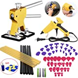 VTOLO 36 Pcs Paintless Dent Repair Tools Kit Gold Dent Lifter with Dent Removal Pulling Tabs Hot Melt Glue Gun Pro Glue Sticks for Dent Puller
