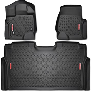2015 2017 Ford F 150 Floor Mats Front Rear Liners 100 Weather Resistant Fits Crew Cab F150 Trucks In 2015 2016 2017 Models Guaranteed