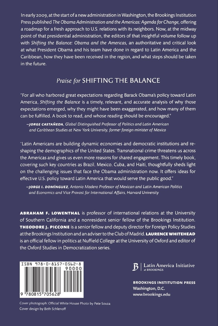 Shifting the Balance: Obama and the Americas (Brookings Latin America Initiative Books)
