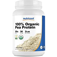 Nutricost Organic Pea Protein Isolate Powder (2LBS) - Unflavored, Certified USDA Organic, Protein from Plants…