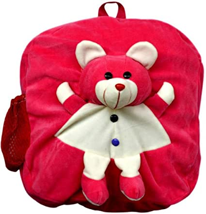Blue Tree Plush School Bag for Kids (Rani Pink, 3 to 5 Years)