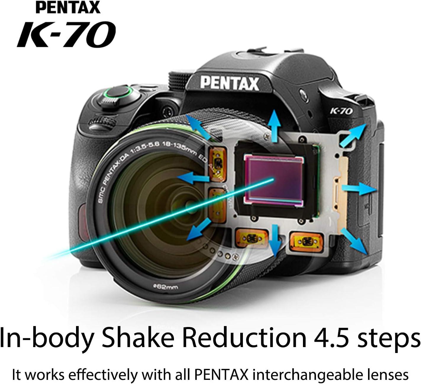 Pentax K-70 - Cámara réflex (Objetivos 18-50 mm y 50-200 mm, 24 MP ...