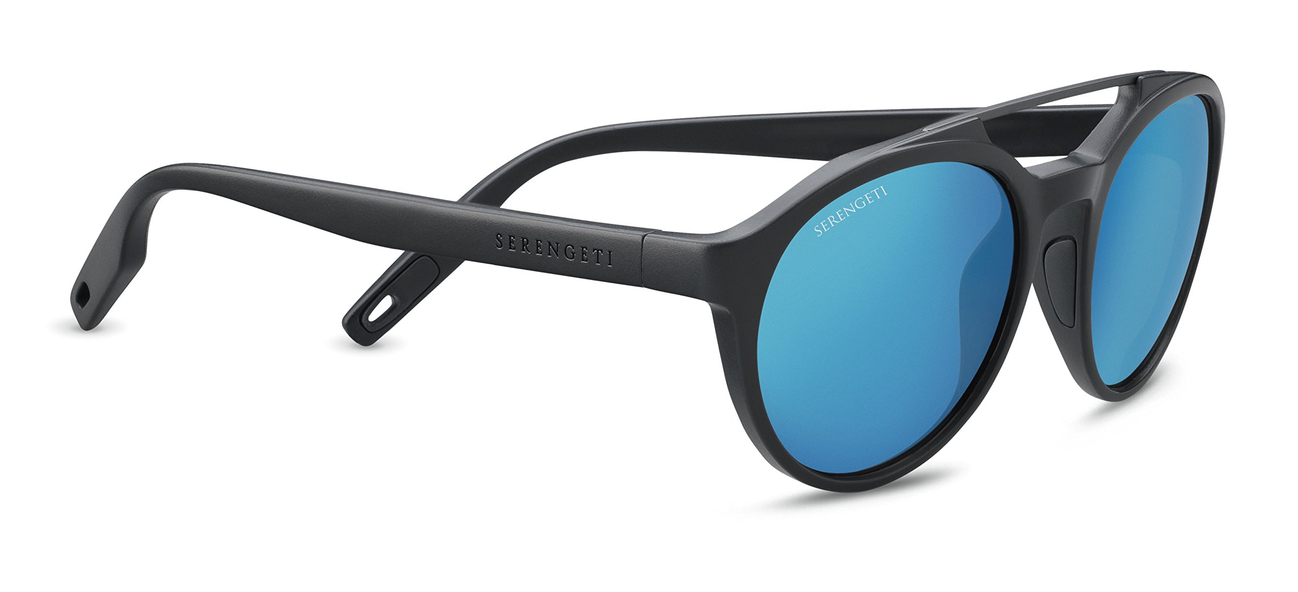 Serengeti Leandro Sunglasses Satin Dark Grey/Satin Dark Gunmetal, Blue