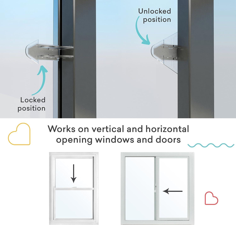 Puerta corredera adhesivo 3 m para patio, armario, Windows, RV, prueba de bebé niño seguridad Latch, 4 unidades: Amazon.es: Bricolaje y herramientas