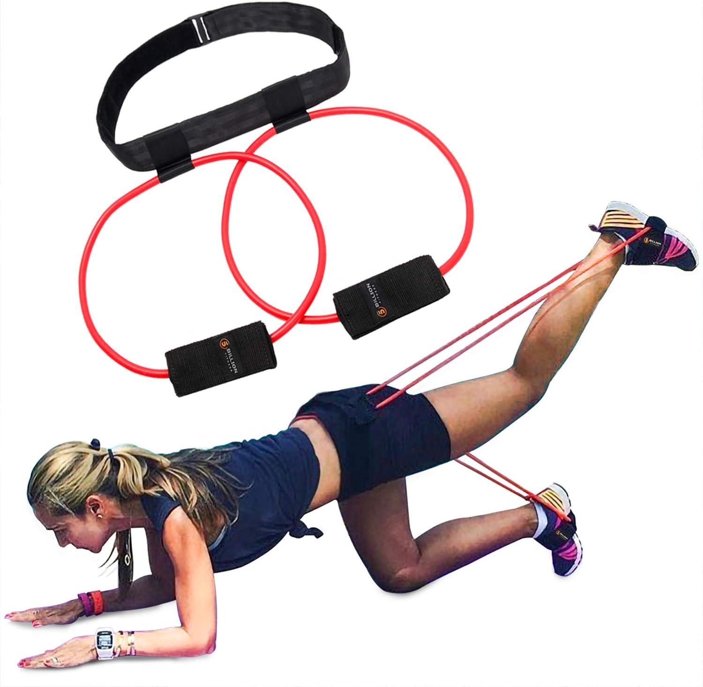 5pcs Yoga SPORTS Elastisch Training Booty Bänder TPE Widerstand Gürtel Ein #S