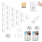 Electric Outlet Plugs Covers Baby Proofing(24 Plug + 5 Keys),Baby Safety ElectricalProtector Caps Kit for Toddlers Child