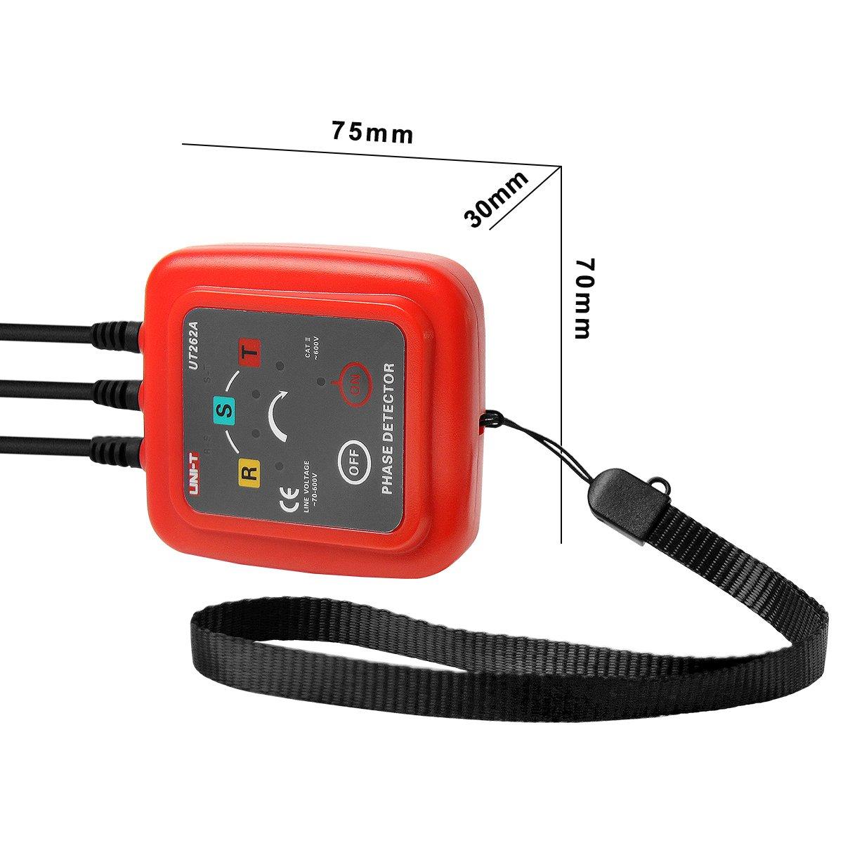 UNI-T UT262A 3 Detector de Secuencia de Fase Rotación de Secuencia de Fase Detectores Indicador Tester Medidor LED Zumbador: Amazon.es: Electrónica