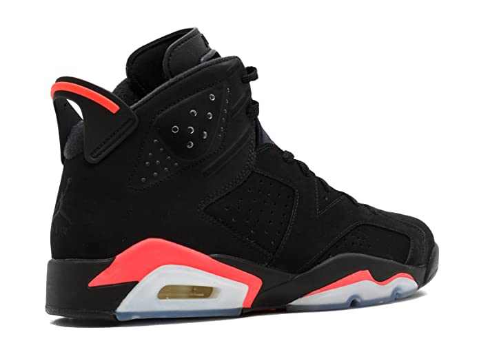 Amazon.com | Jordan Air 6 Retro Mens Shoes Black/Infrared 384664-023 | Basketball