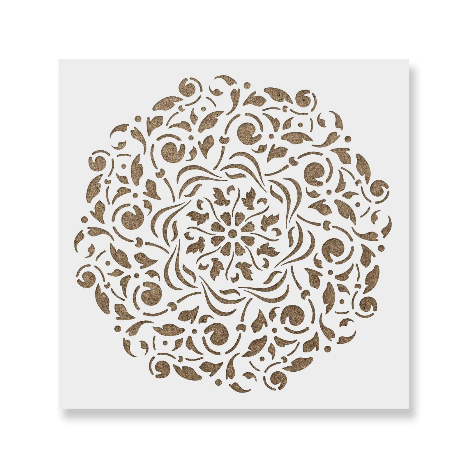 Scheele Mandala Stencil Template for Walls and Crafts - Reusable Stencils for Painting in Small & Large Sizes