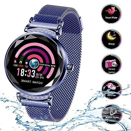 Smart Watch para Mujeres H2 Pulsera Actividad Inteligente con Pulsómetro Impermeable IP67 Podómetro Pulsera Deportiva Monitor de Ritmo Cardíaco Reloj ...