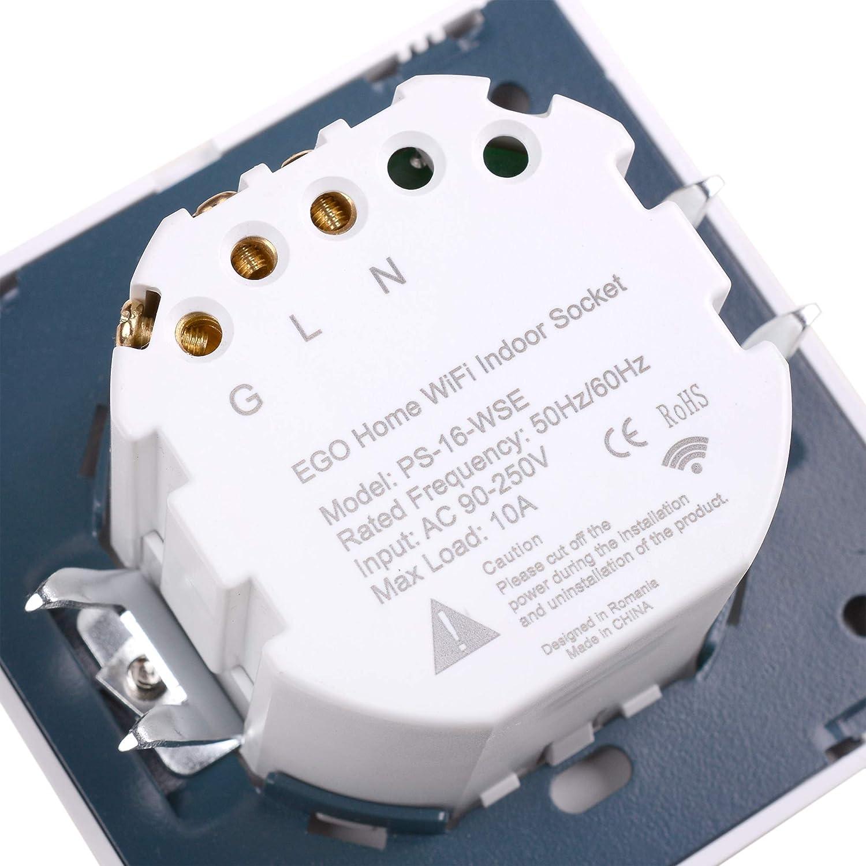 Smart EGO Home WiFi WLAN innenst esquina lata compatible para Amazon Alexa y Google Assistant, con aplicación EGO Home de iOS y Android Control y consumo ...