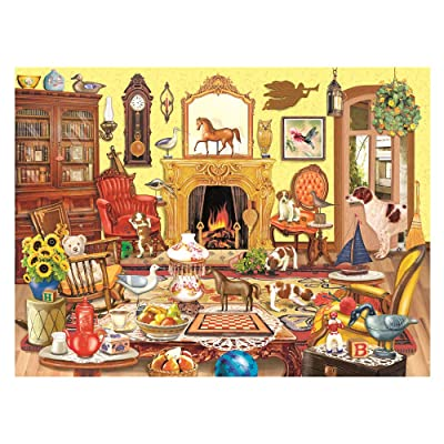 1000 Piece Jigsaw Puzzles for Adults & Kids - Living Room Leisure Time, Large Puzzle for Cat Lover Advanced Players Pressure Gift Family Fun: Toys & Games