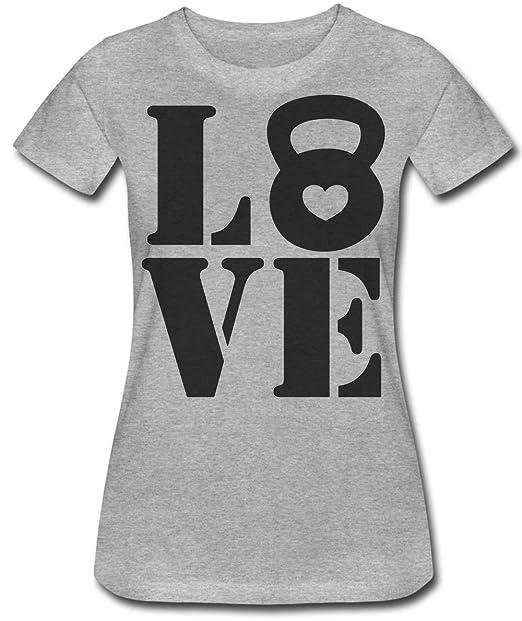Love Crossfit Weights Lifting T-Shirt Camiseta Para Mujere: Amazon.es: Ropa y accesorios
