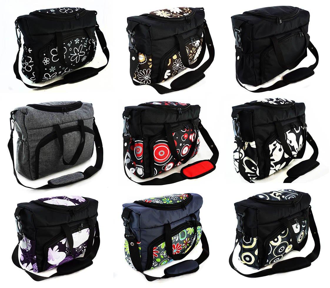 Sac-poussette sac /à langer grande capacit/é pour la poussette un sac de voyage un sac pour les accessoires une mallette de transport motif gris Gray 059