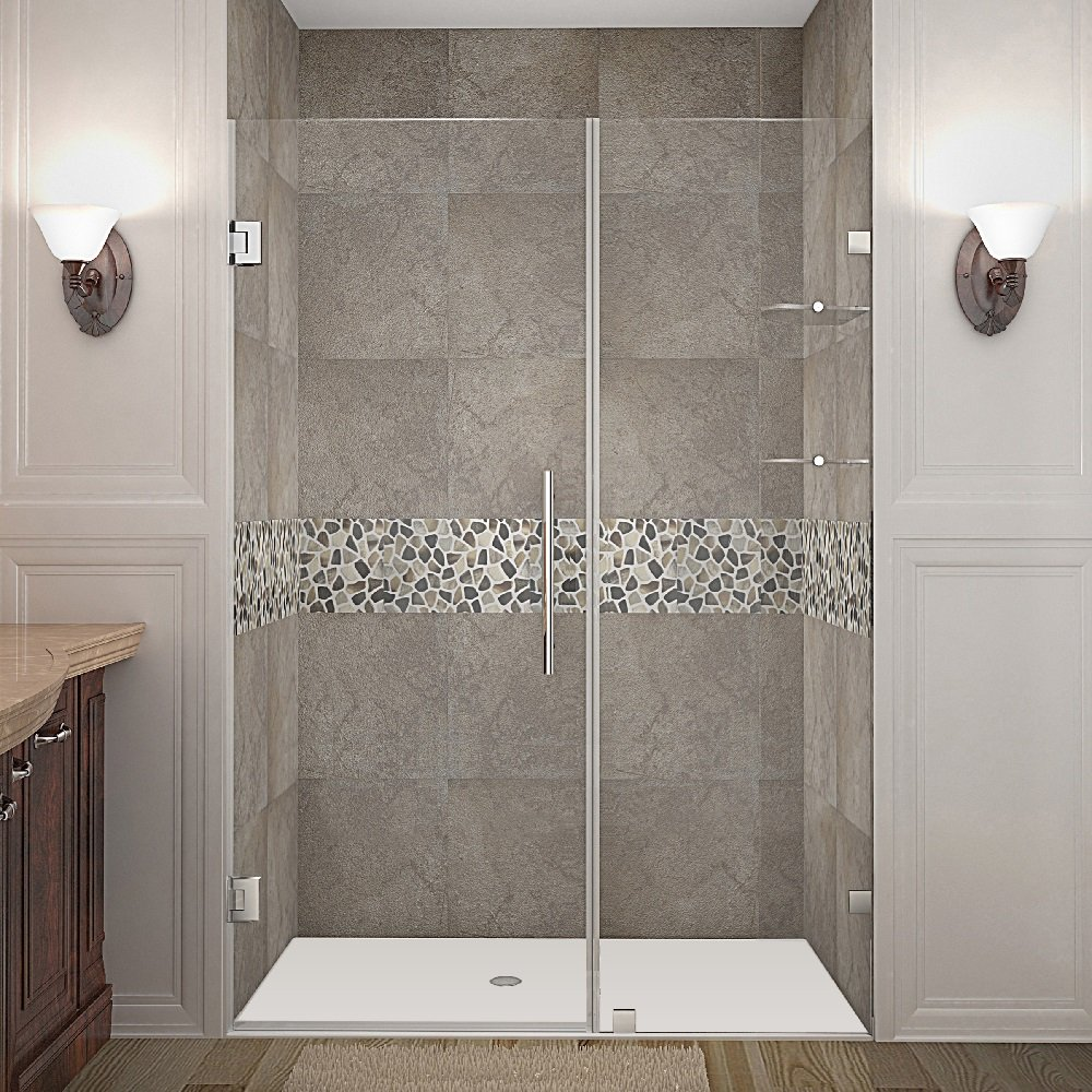 Aston Nautis Gs 46 X 72 Frameless Hinged Shower Glass Door