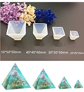 Amazon silicone pendant diy molds resin jewelry making tools pyramid jewelry casting molds silicone resin jewelry molds for diy jewelry craft making by garloy aloadofball Choice Image