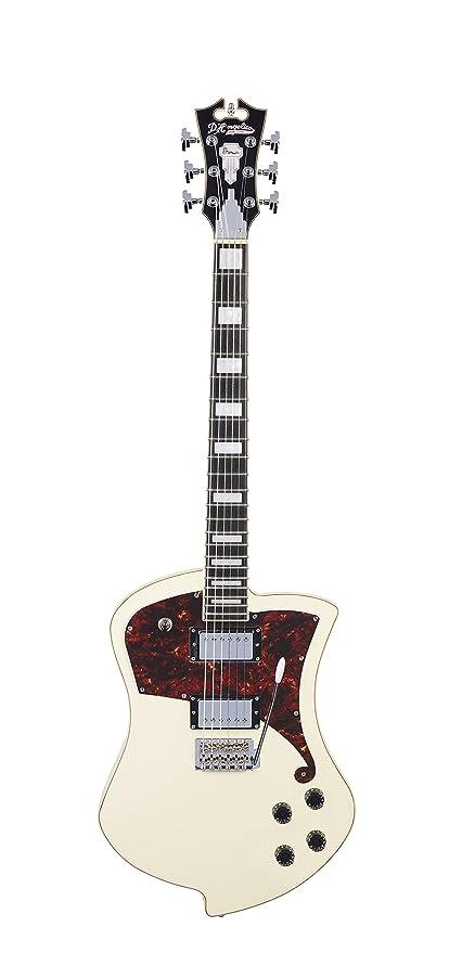 DAngelico Premier Ludlow guitarra eléctrica con trémolo Tailpiece – blanco antiguo