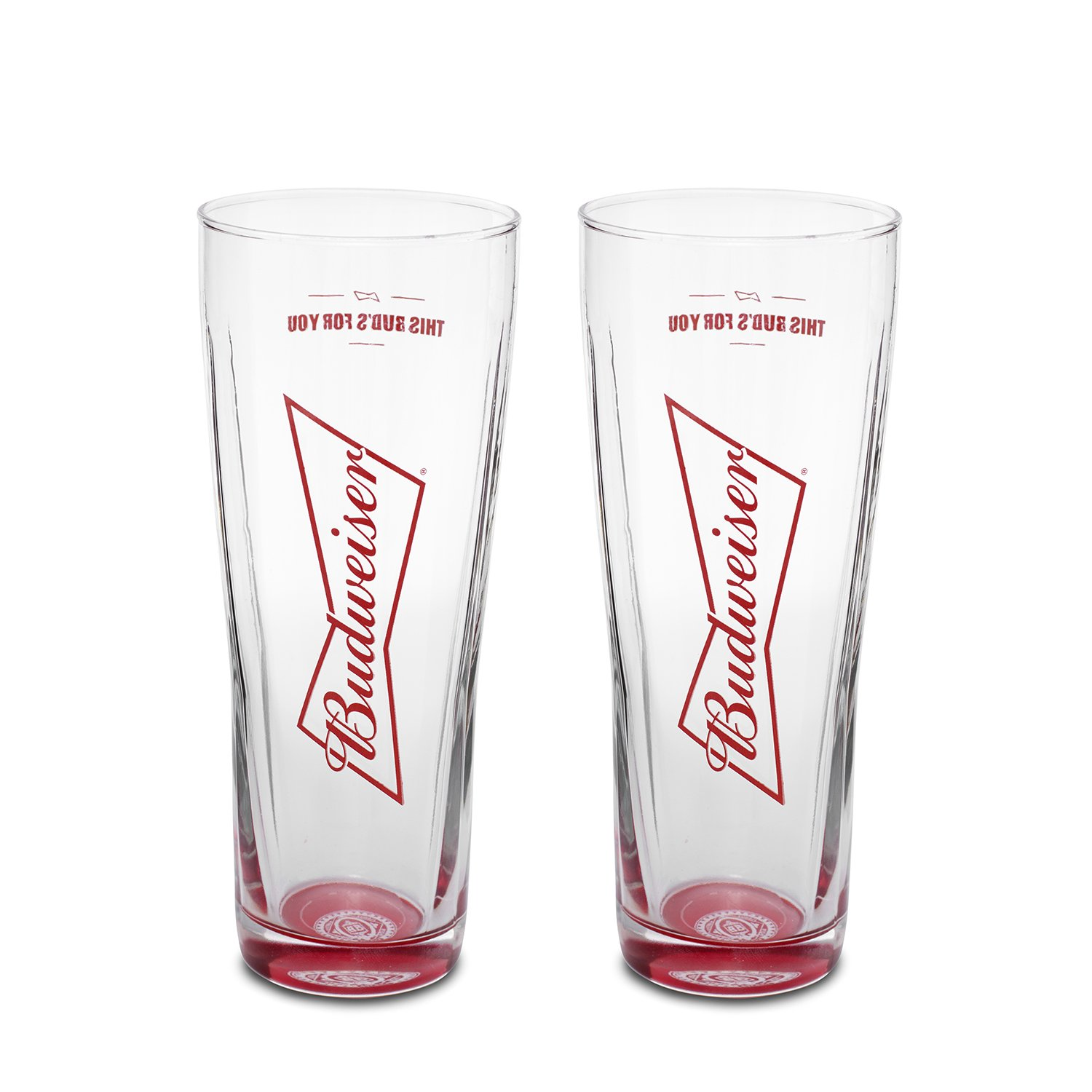 Budweiser 2-Pack Dream Beer Glass, 16oz