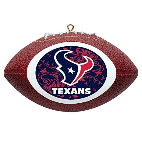 946062351ee Image Unavailable. Image not available for. Color  NFL Houston Texans Mini  Replica Football Ornament