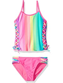 28a76a0e38926 Angel Beach Big Girls  Tankini Swimsuit Set with Lace Side
