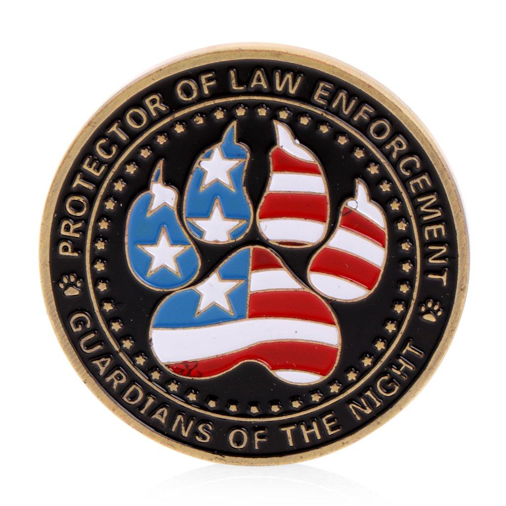 Roboco US Mint,Police Dog Guardians Law Enforcement Protector Commemorative Challenge Coin Gift US Mint