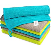 AIDEA Microfiber Cleaning Cloths-6PK, Kitchen Towels Cleaning Dish Cloths Softer Highly Absorbent, Lint Free Streak Free…