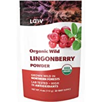 Organic Wild Lingonberry Powder, Made from 100% Whole Organic Lingonberries, Freeze Dried and Powdered Wild…
