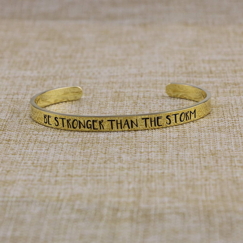 Yiyang Inspirational Plated Brass Cuff Bangle Bracelet Jewelry Gifts Teen Girls Women Feminist
