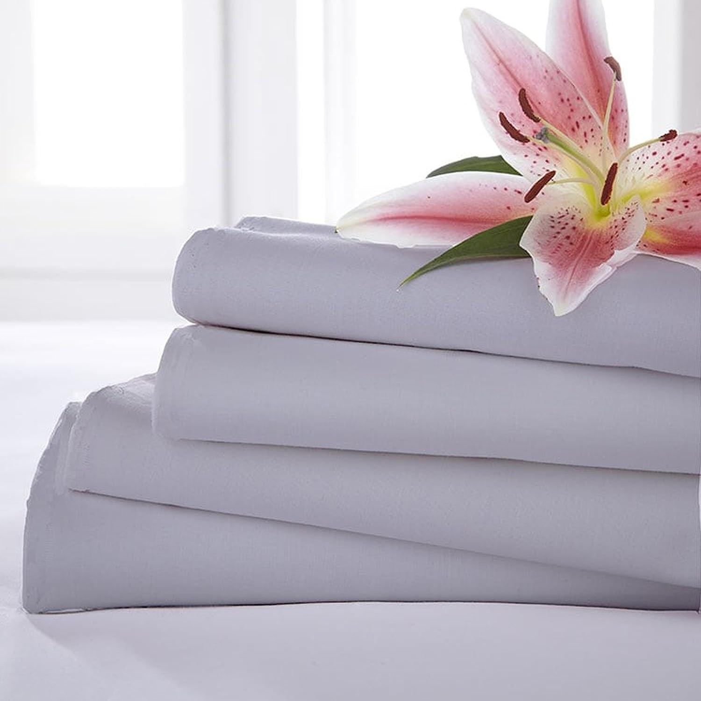 Charlotte Thomas Poetry Plain Dyed Bed Linen Flat Sheet, Slate Grey - King Size HLS Bedding