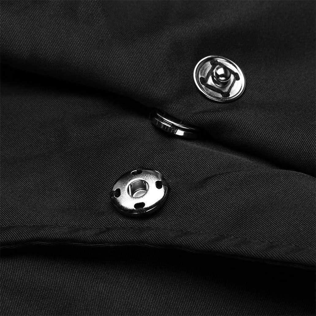 ROGINA.ER Manteau à Manches asymétriques pour Femme Noir
