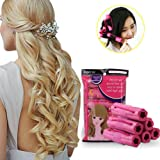 Bigodini Arricciacapelli, Bigodini Flessibili per Capelli Lunghi, Bigodino Rullo, Rullo Arricciacapelli, Bigodini in spugna, Popular Soft Sponge Hair Curler Rollers, Hair Curling Styling Twist Tool DIY makeup Tools per Donne, Flessibile per Acconciatura Capelli DIY, Bastoni per Capelli Mossi, Ricci,(6Pz)