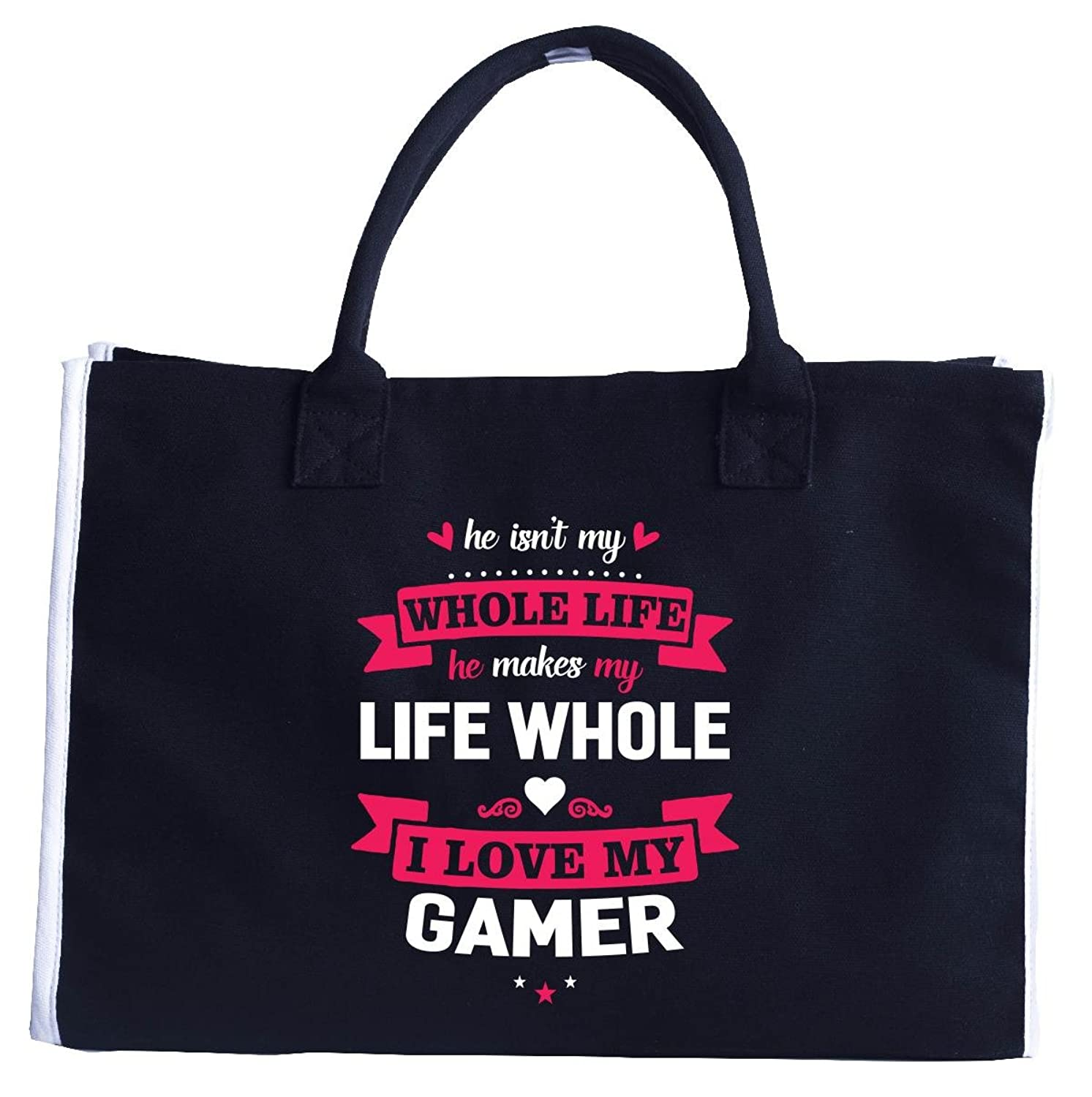 I Love My Gamer. Cool Gift - Fashion Customized Tote Bag
