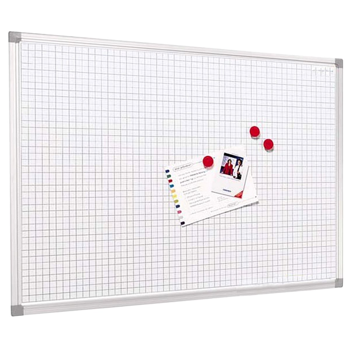 Master of Boards Grid Design Magnetic Whiteboard - 45x60cm (1'6' x2') | 2