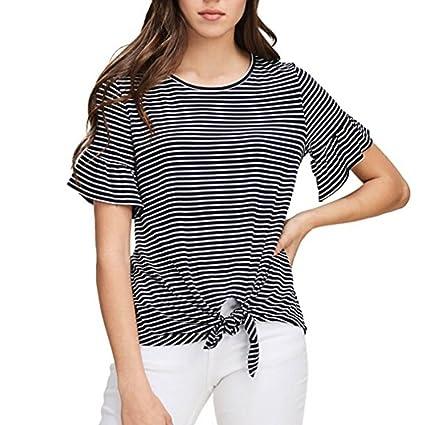 LILICAT® Camiseta Corta para Niñas Adolescentes 2018 Moda Casual de Verano Tops de Manga Corta