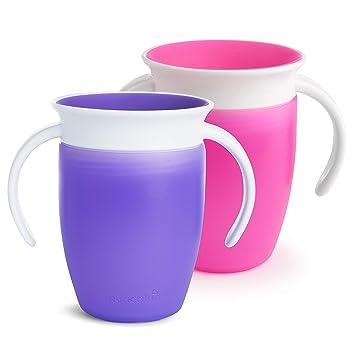 Munchkin Miracle 360 Orange spill Trainer Cup Beaker Toddler Leak Proof Drink