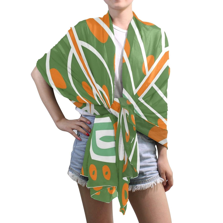 Lightweight Shawl Wrap Sheer Scarves,Ethnic Floral Pattern,Oblong Chiffon Scarf