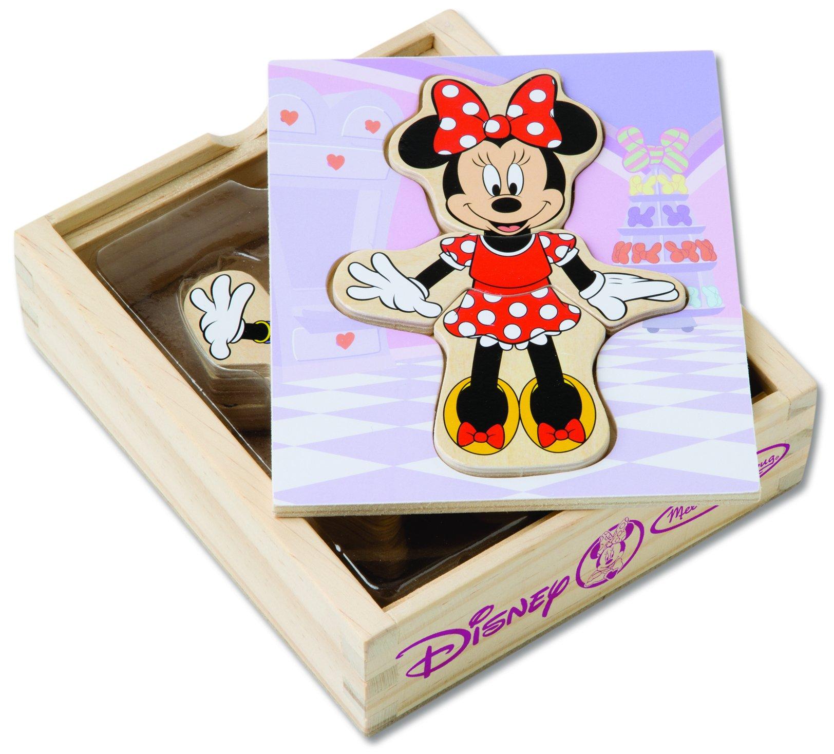 Melissa & Doug Disney Minnie Mouse Mix and Match Dress-Up Wooden Play Set (18 pcs)